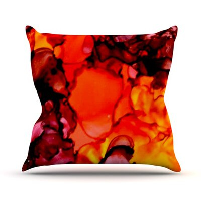 Mordor Throw Pillow Size: 16 H x 16 W
