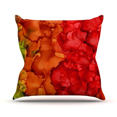 Fall Splatter Throw Pillow Size: 16 H x 16 W