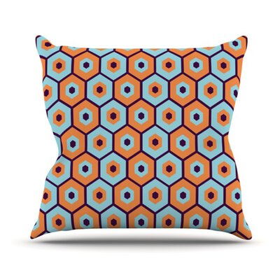Busy Throw Pillow Size: 26 H x 26 W