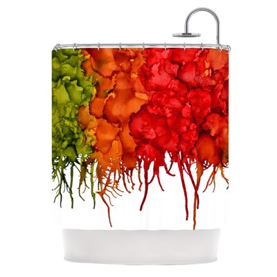 Fall Splatter Shower Curtain