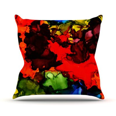Beach Bum Throw Pillow Size: 26 H x 26 W