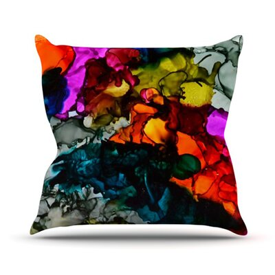 Hippie Love Child Throw Pillow Size: 18 H x 18 W