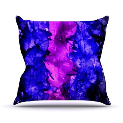 Drop Throw Pillow Size: 18 H x 18 W, Color: Purple