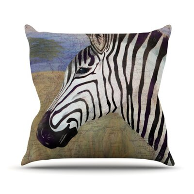 Zebransky Throw Pillow Size: 18 H x 18 W