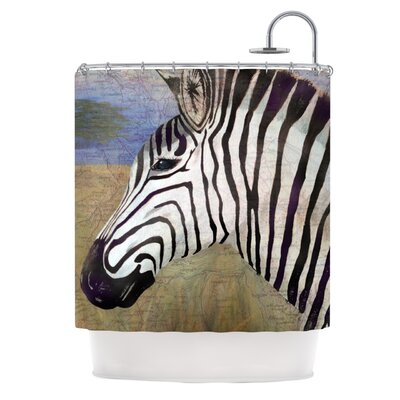 Zebransky Shower Curtain