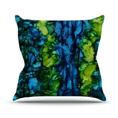 Drop Throw Pillow Size: 26 H x 26 W, Color: Green