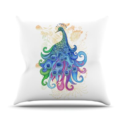 Peace Throw Pillow Size: 18 H x 18 W