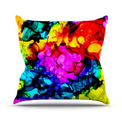 Sweet Sour Throw Pillow Size: 18 H x 18 W