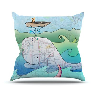 Im on a Boat Throw Pillow Size: 18 H x 18 W