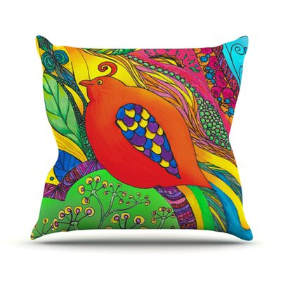 Psycho-Delic Dan Throw Pillow Size: 16 H x 16 W