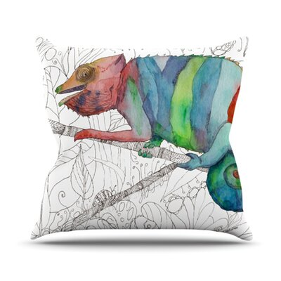 Chameleon Fail Throw Pillow Size: 18 H x 18 W