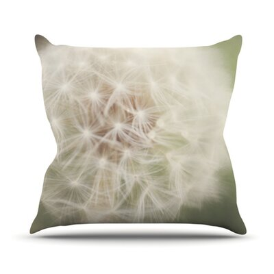 Dandelion Throw Pillow Size: 18 H x 18 W