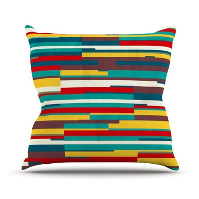 Blowmind Throw Pillow Size: 16 H x 16 W