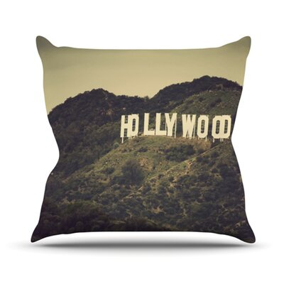 Hollywood Throw Pillow Size: 16 H x 16 W