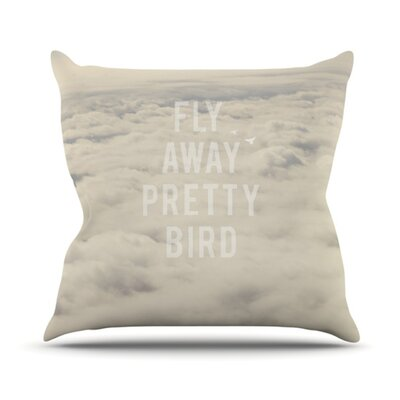 Fly Away Pretty Bird Throw Pillow Size: 26 H x 26 W