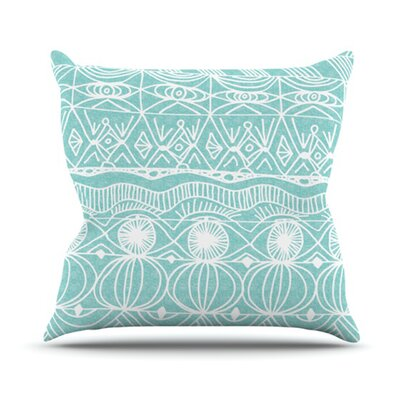 Beach Blanket Bingo Throw Pillow Size: 26 H x 26 W