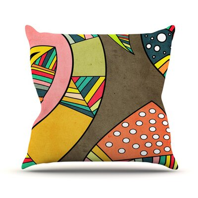 Cosmic Aztec Throw Pillow Size: 18 H x 18 W