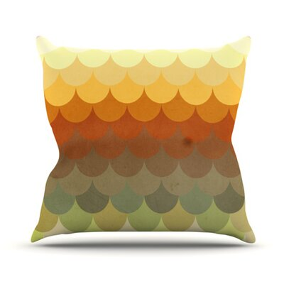 Half Circles Waves Throw Pillow Size: 26