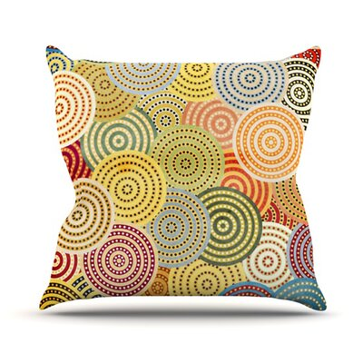 Matias Girl Throw Pillow Size: 18 H x 18 W
