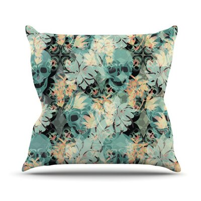 Dead Head Party Throw Pillow Size: 16 H x 16 W