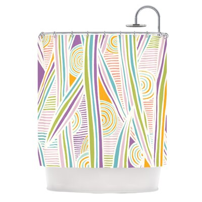 Graphique Shower Curtain Color: White