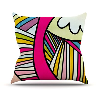 Fake Colors Throw Pillow Size: 16 H x 16 W