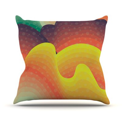 Waves, Waves Throw Pillow Size: 20 H x 20 W