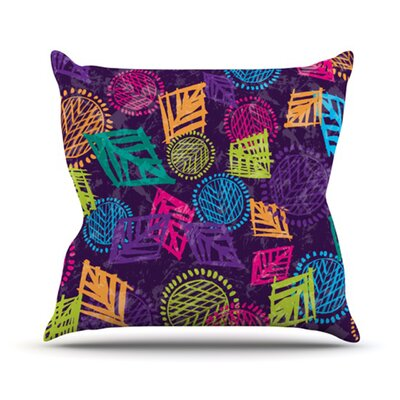 African Beat Throw Pillow Size: 16 H x 16 W x 3.7 D, Color: Purple