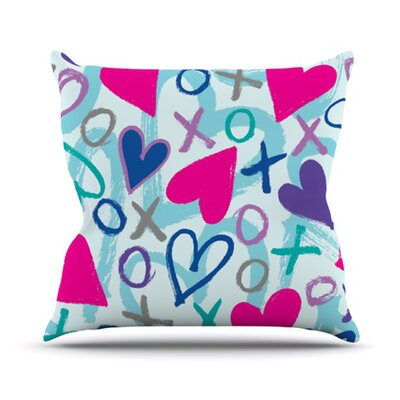 Hearts A Flutter Throw Pillow Size: 16