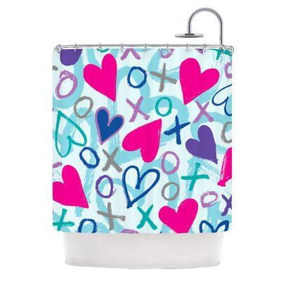 Hearts A Flutter Shower Curtain