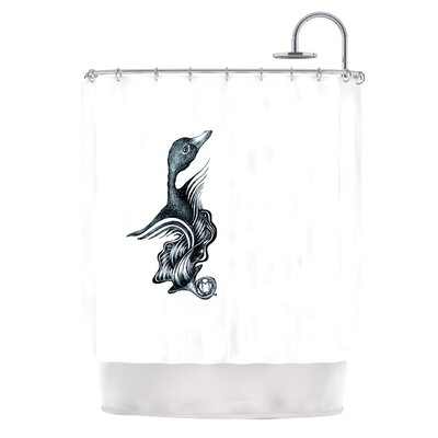 Swan Horns Shower Curtain