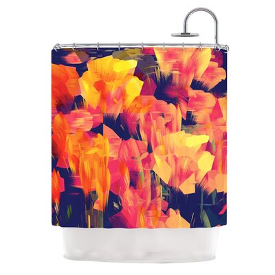 Geo Flower Shower Curtain