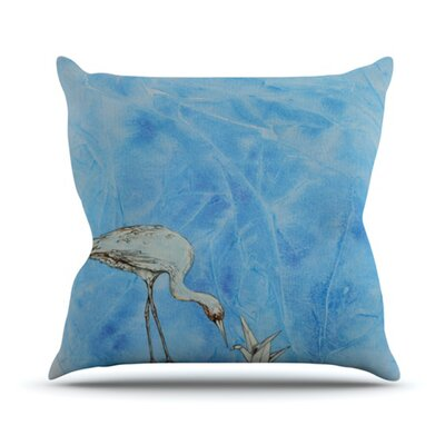 Crane Throw Pillow Size: 26 H x 26 W