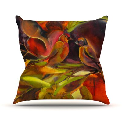 Mirrored in Nature Throw Pillow Size: 18 H x 18 W