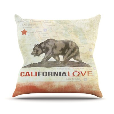 Cali Love Throw Pillow Size: 16 H x 16 W
