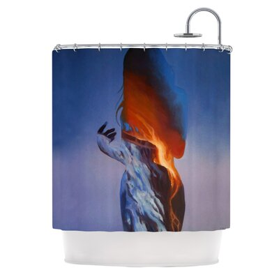 Kess InHouse Volcano Girl Polyester Shower Curtain at Sears.com