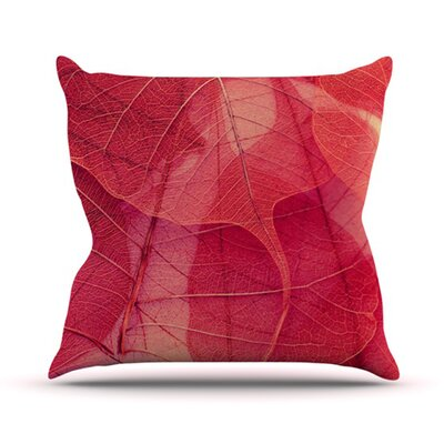 Delicate Leaves Throw Pillow Size: 18 H x 18 W