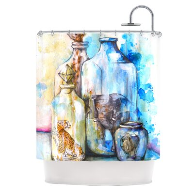 Bottled Animals Shower Curtain