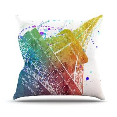 Paris Je Taime by Nika Martinez Throw Pillow Size: 26 H x 26 W x 5 D