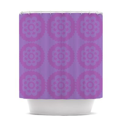 Moroccan Shower Curtain Color: Lilac