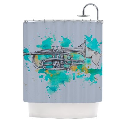 Hunting for Jazz Shower Curtain