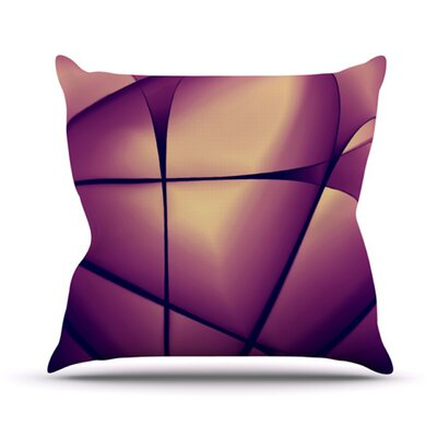 Paper Heart Throw Pillow Size: 16 H x 16 W