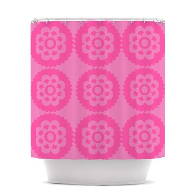 Moroccan Shower Curtain Color: Pink