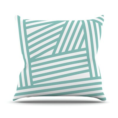 Stripes Throw Pillow Size: 26 H x 26 W