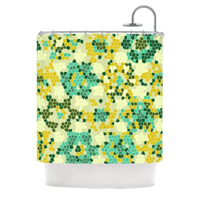 Flower Garden Mosaic Shower Curtain