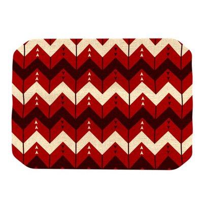 Kess InHouse Chevron Dance Placemat - Color: Red