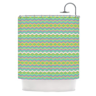Chevron Love Shower Curtain