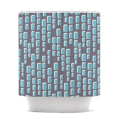 Cubic Geek Chic Shower Curtain