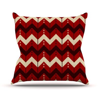Chevron Dance Throw Pillow Size: 16 H x 16 W, Color: Red