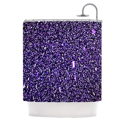 Purple Dots Shower Curtain